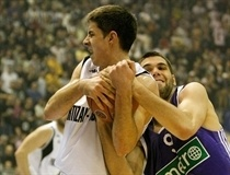 Milenko Tepic and Felipe Reyes - Partizan Igokea - Real Madrid