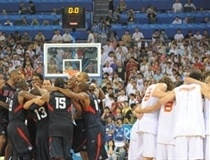 USA-Spain post-game celebrations (Photo: FIBA)