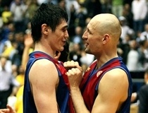 Ersan Ilyasova and Lubos Barton celebrates - Regal FC Barcelona