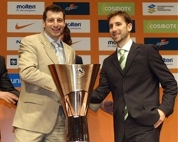 Theo Papaloukas and Pepe Sanchez - Press conference - Athens 2007