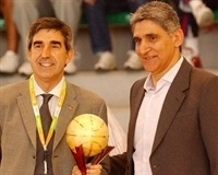 Jordi Bertomeu, Greece NT head coach Panagiotis Giannakis