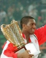 David Rivers with Olympiacos 1997 trophy