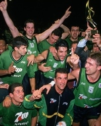 Joventut poses as the 1994 European Cup champions.