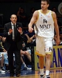Ettore Messina and Novika Velickovic - Real Madrid