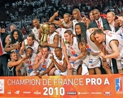 Cholet Basket Champ France League 2009-10 (photo cholet-basket.com)