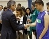 Jordi Bertomeu hands medals at the Special Olympics Final Four