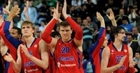 Players CSKA Moscow celebrates - Final Four Istanbul 2012