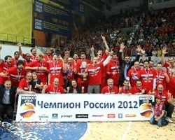 Russian League champion 2011-12 - CSKA Moscow (photo pbleague.ru)