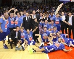 Cibona Zagreb champ Croatian league 2011-12 (photo Tonci Vrandecic - Kosarka.hr)