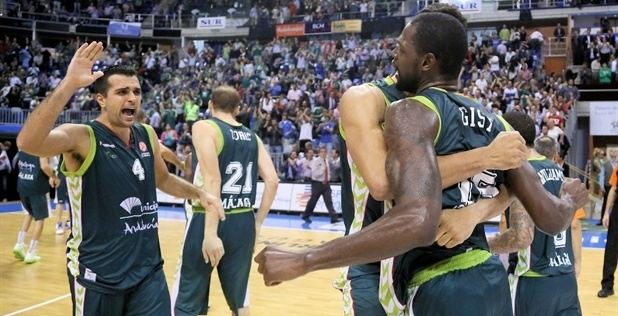 Players Unicaja Malaga celebrates - EB12