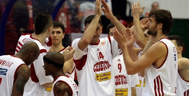 Players Cedevita Zagreb celebrates - EB12