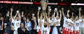 Olympiacos Piraeus champ Euroleague 2012-13 - Final Four London 2013