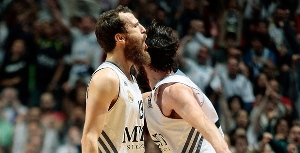 Sergio Rodriguez and Sergio Llull celebrates - Real Madrid - EB13