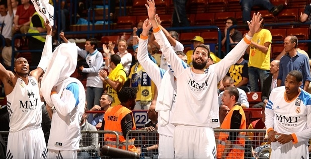Nikola Mirotic - Real Madrid celebrates - Final Four Milan 2014