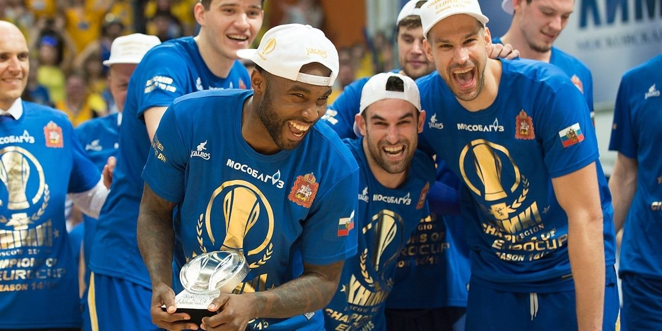 Tyrese Rice Finals MVP - Khimki Moscow Region champ Eurocup 2014-15 - Finals 2015 in Khimki, Moscow Region - EC14