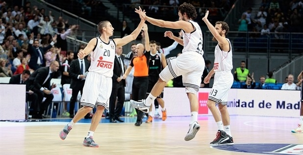 Jaycee Carroll - Real Madrid celebrates - EB14