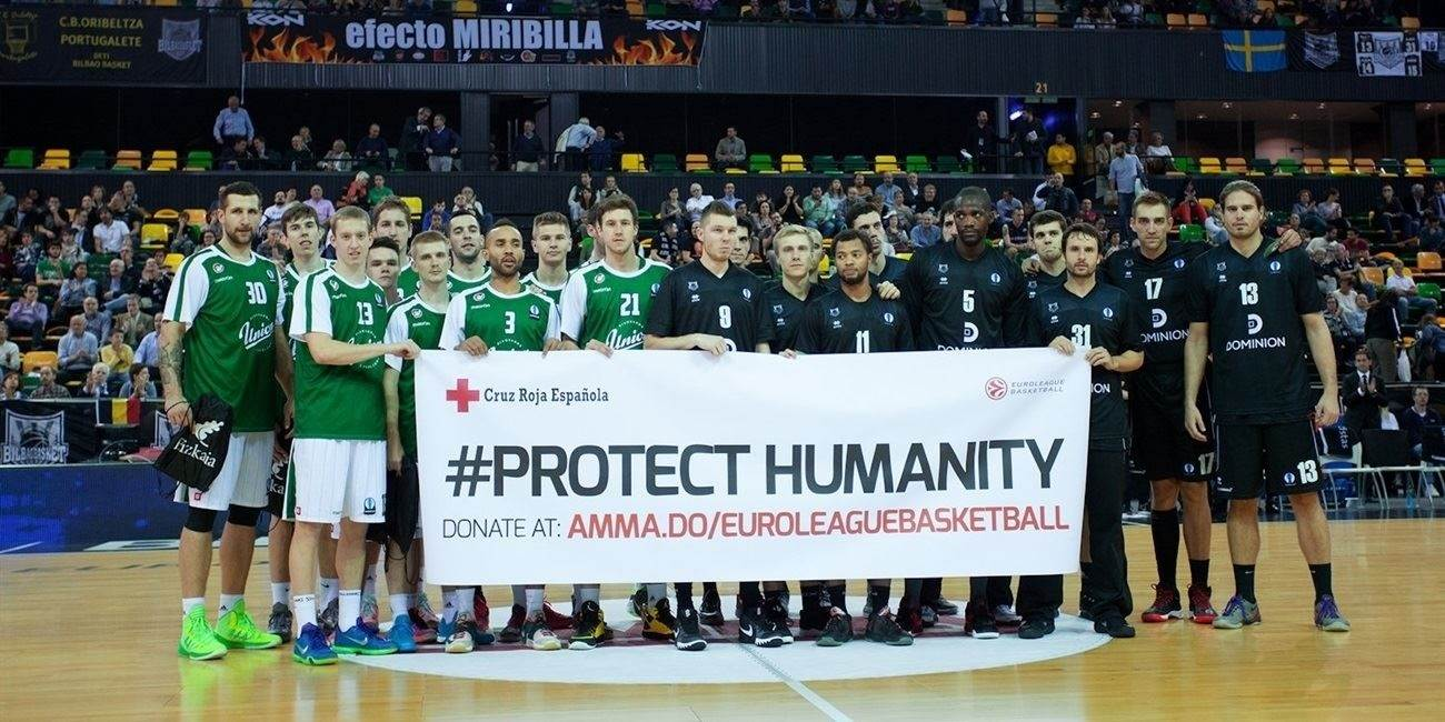 Protect Humanity - Dominion Bilbao Basket vs. Union Olimpija Ljbljana- EC15 (photo Besiktas JK)