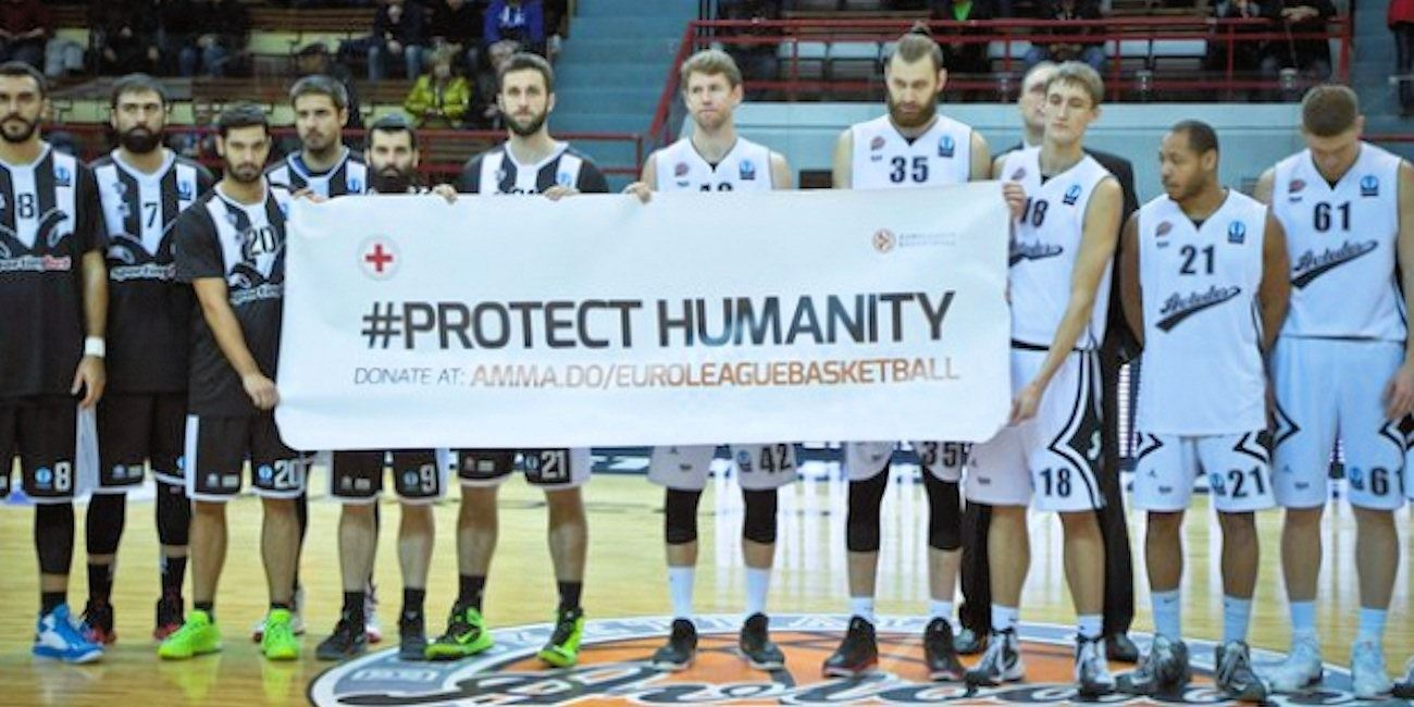 Protect Humanity - Avtodor Saratov vs. PAOK Thessaloniki - EC15 (photo Avtodor Saratov)