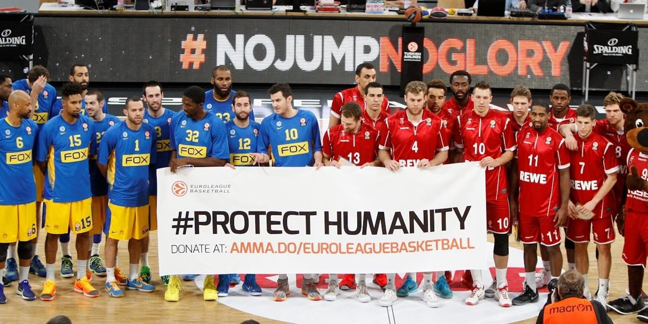 Protect Humanity - Brose Baskets Bamberg vs. Maccabi FOX Tel Aviv - EB15