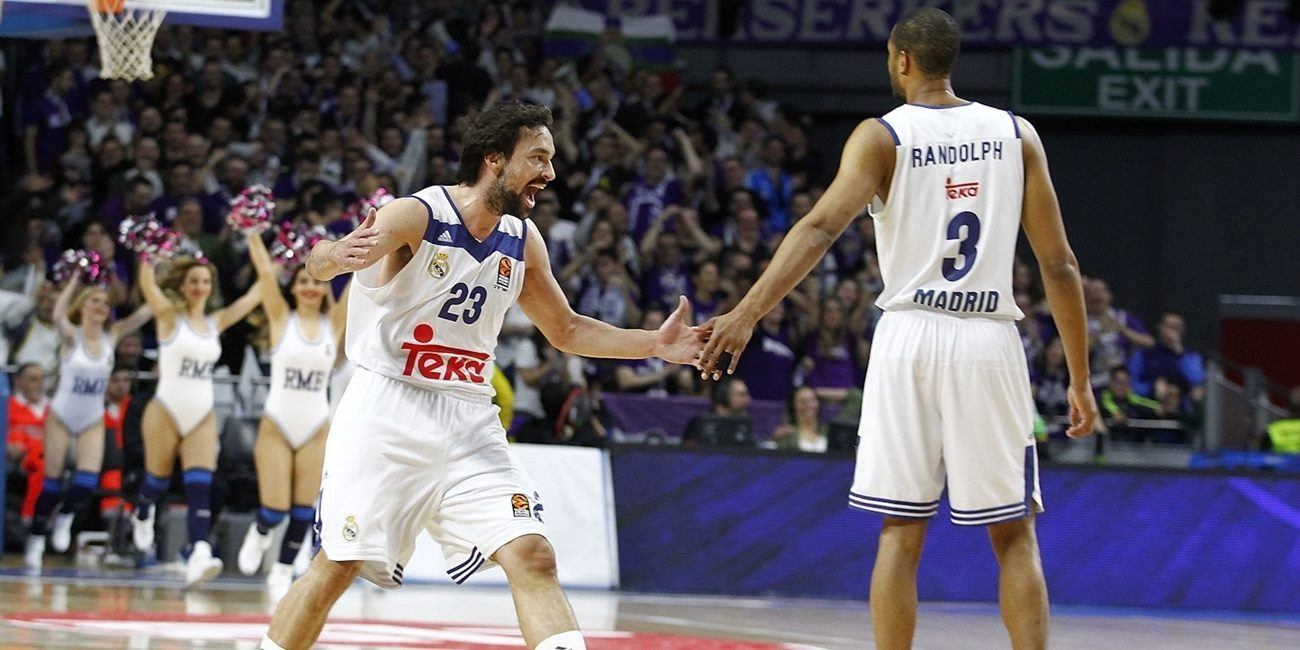 Sergio Llull celebrates - Real Madrid - EB16