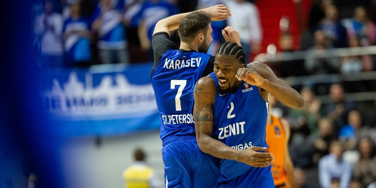 Jalen Reynolds celebrates - Zenit St Petersburg (photo Zenit) - EC18