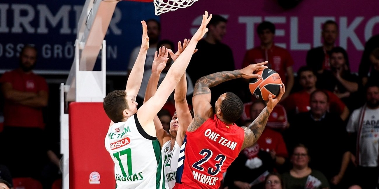 Derrick Williams, One Team Games - FC Bayern Munich vs. Zalgiris Kaunas - EB18